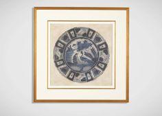 Blue Porcelain Peacock