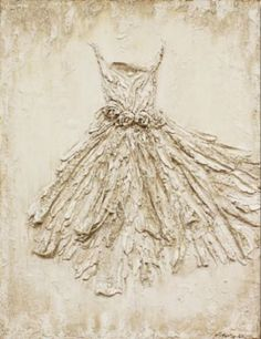 Rachel Schwind - The One - Plaster & Mixed Media on Panel - 36 in. x 47 in. - sold