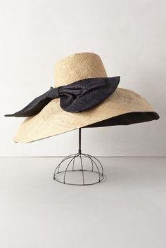 Anthropologie Canotier Floppy Hat $98.00 - Buy it here: https://www.lookmazing.com/anthropologie-canotier-floppy-hat/products/6056048