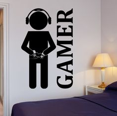 Wall Stickers Vinyl Decal Video Games Joystick Gamer Decor For Play Room (z2065i) 22.5 in by 35 in