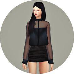 Tucked blouse at Marigold via Sims 4 Updates