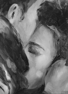 Forehead kiss by V. Art Sketches, Art Drawings, Afrique Art, Romance Art, Art Plastique, Art Sketchbook, Aesthetic Art, Love Art, Art Inspo