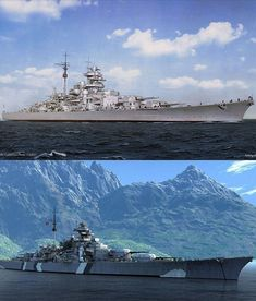 The Battleship Bismarck. German combat strength and beauty United.