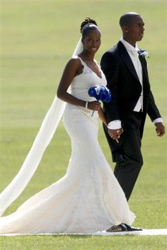 famous wedding dresses | Jamelia and Darren Byfield (Rex Features)