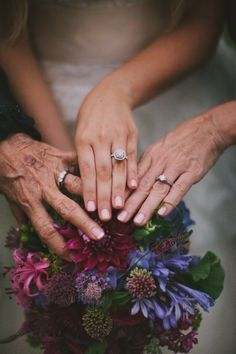 3 Generations Wedding ring picture!