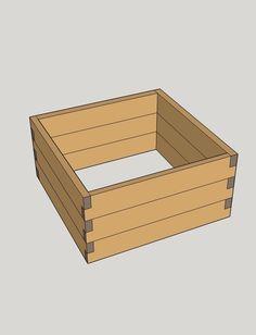 Praktický, malý vyvýšený záhon s rozmermi 1 x 1 x 0,36 m. Raised Beds, Texture, Wood, Crafts, Surface Finish, Manualidades, Woodwind Instrument, Timber Wood, Flower Beds