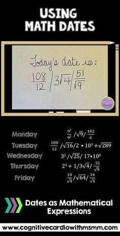 Check out this blog post for ideas for using the date to encourage more math thinking in middle school math classes. Students know the answer - prove how it works