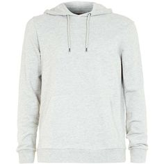 TOPMAN Grey Marl Classic Fit Hoodie (145 MYR) ❤ liked on Polyvore featuring men's fashion, men's clothing, men's hoodies, grey, mens hoodies, mens grey hoodies, mens sweatshirts and hoodies and mens cotton hoodies