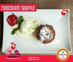 De Ziua Îndrăgostiților fă-i cadou jumătății tale un delicios Chocolate Soufflé cu înghețată și sos de vanilie. 💠 💜 💕 💘 #cadou #surpriză #happy #valentines #pokka #cluj