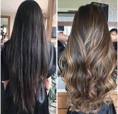 Hair highlights balayage asian Super ideas Hair highlights balayage asian Super i Hair Color Balayage, Ombre Hair, Asian Balayage, Bayalage, Balayage Highlights Brunette, Balayage Hair Brunette Long, Hair Transformation, Brunette Hair, Gorgeous Hair