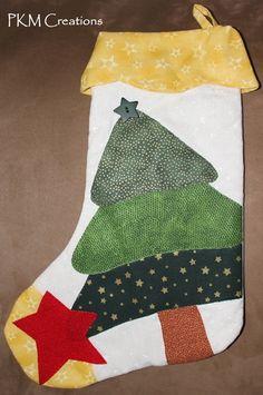 Xmas Tree Christmas Stocking