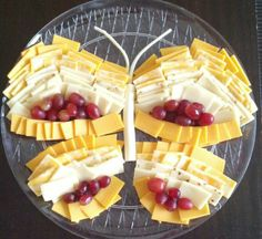 Butterfly cheese tray. Happy birthday Kassidy!!!
