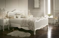 white bedroom:  Decorating Insanity