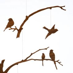 Hanging Mobile Gallery - Birds of a Feather Mobile, $65.00 (http://www.hangingmobilegallery.com/birds-of-a-feather-mobile/)