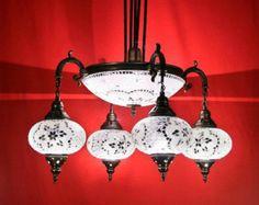 4  Arabian Mosaic Lamps, Moroccan Lantern, ceiling lamp, Chandelier,Turkish Light, Hanging Lamp, Mosaic lighting,standing lamp