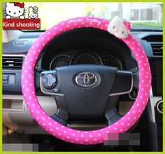 Hello Kitty Car Steering Wheel Cover //Price: $40.99 & FREE Shipping // World of Hello Kitty http://worldofhellokitty.com/car-styling-hello-kitty-car-steering-wheel-cover-cartoon-cute-pink-hello-kitty-profile-universal-interior-accessories-set-women/    #toys