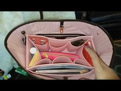 d5d780b01f64 Louis Vuitton Neverfull MM in Rose Ballerine Purse Organizer From  SenamonBagOrganizer