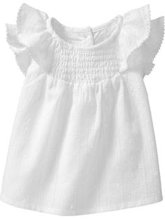 Flutter-Sleeve Dobby Tops for Baby Product Image