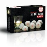Ice Ball Maker: Big Silicone Mold Makes Round Ice Cubes -For Cocktail Drinks Like Scotch ,Whiskey  Bourbon. Flavor with Fruit  Juice for Frozen Sphere Desert Recipes. Sold exclusively by Kitchen Top Secret. Fun for Kids  Adults- Make Life Mor #IceBallMakerXL