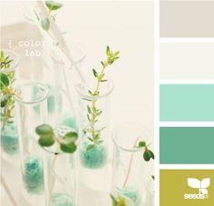 gray, cream, turquoise, green
