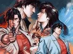 City hunter, Nicky Larson, Hunter Anime, Resident Evil, Angel Heart, Manga Anime, Comic Books, Fan Art, Berserk