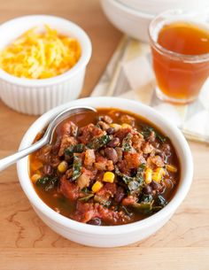 Recipe: Easy Turkey Chili with Kale | Kitchn
