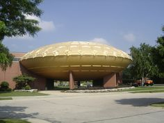 SC Johnson Wax Golden Rondelle Theatre from the 1964 World's Fair at SC Johnson headquarters in Racine Wisconsin Johnson Wax, Racine Wisconsin, World's Fair, View Image, Theatre, Architecture, City, Buildings, Travel