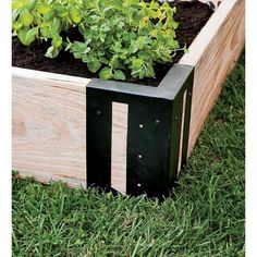 Raised Bed Corners, Set of Our preformed solid steel brackets make it easy to build raised beds using your own lumber. You design the beds to whatever dimensions you want, with easy assembly thanks to predrilled holes and included screws. Raised Vegetable Gardens, Vegetable Garden Design, Raised Gardens, Vegetable Gardening, Building A Raised Garden, Raised Garden Beds, Raised Planter, Planter Beds, Making Raised Beds