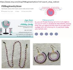LOOK AT MY FUN, NEW EYE-GLASSES HOLDER AND EAR-RINGS FROM PILLBUG JEWELRY – PLACE YOUR ORDER TODAY… https://www.etsy.com/shop/PillBugJewelryStore?ref=search_shop_redirect