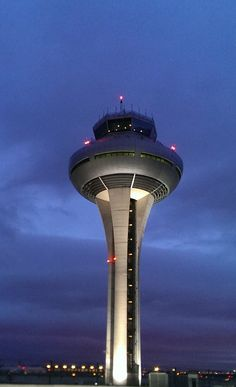 Airport Control Tower Cyberpunk City, Futuristic City, Airport Control Tower, Cheap Air Tickets, Gatwick Airport, Air Traffic Control, Airline Logo, Tower Building, Last Minute Travel