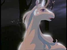 The Last Unicorn Fantasy Films, Fantasy Story, Unicorn And Fairies, The Neverending Story, Unicorn Tattoos, The Last Unicorn, The Dark Crystal, Vintage Cartoon, Pegasus