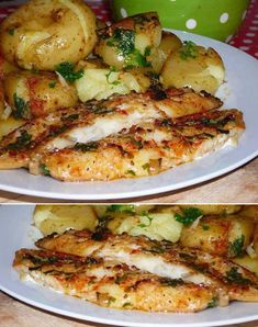 - Source by Fish Recipes, Healthy Recipes, Tilapia, Carne, Zucchini, Seafood, Good Food, Low Carb, Food And Drink