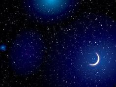 Stars on Dark Blue Space Backgrounds