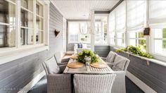 Katetulla terassilla tai kuistilla voi kevätkauden aloittaa jo pian.