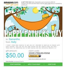 Amazon Gift Card - E-mail - Happy Father's Day - Hammock $50.00
