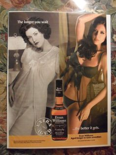 2008 Print Ad Evan Williams Whiskey Sexy Girl Nightgown Lingerie | eBay