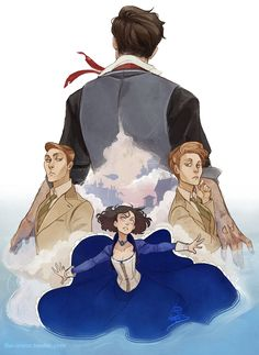 """the-orator: """" """"You think a dunk in the river's gonna change the things I've done?"""" This game has ruined me but goddamn if it wasn't an experience """" Bioshock Game, Bioshock Series, Bioshock Artwork, Bioshock Infinite, The Orator, Video Game Art, Fandoms, Character Inspiration, Cool Art"""