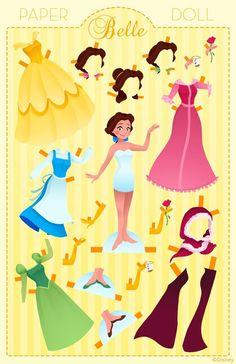 Paper Doll: Belle