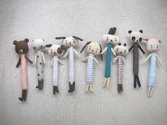 Animals Brooches by evangelione, via Flickr