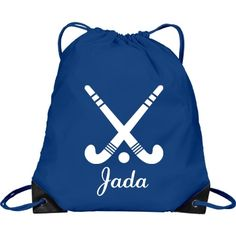 Jada. Field Hockey | Great bag for anyone! You gotta have one. You can customize this bag by changing the colour, font or name. Go ahead and make it your own.