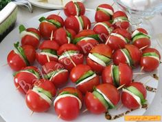 "The post ""Catering Tomatoes"" appeared first on Pink Unicorn Kreatives Cute Food, Good Food, Yummy Food, Catering, Healthy Snacks, Healthy Recipes, Food Garnishes, Food Decoration, Turkish Recipes"