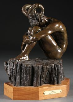 An American bronze figure of Aries by Jasper D'Ambrosi. Abstract Sculpture, Bronze Sculpture, Sculpture Art, Unusual Art, Metal Artwork, Wood Carving, Aries, Pagan, Statues
