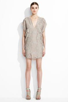 BCBGMAXAZRIA, Runway Freja Embroidered V-Neck Dress
