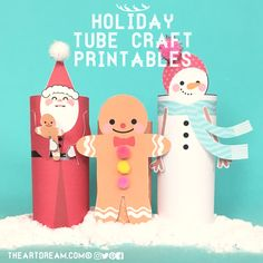 Santa, gingerbread man and snowman are all decked out for the holidays! Enjoy the wonder these printables will bring to your holiday season!