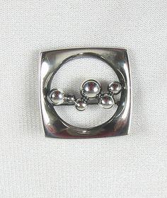 Vtg 1960s Mid Century Erik Granit Sterling Silver Modernist Pin Signed Finland   eBay