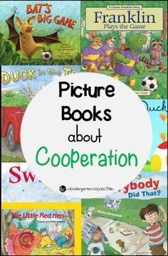 Books About Cooperation Must Read Books About Cooperation. These are great for back to school and building classroom community too!Must Read Books About Cooperation. These are great for back to school and building classroom community too! Preschool Books, Book Activities, Kindergarten Books, Sequencing Activities, Preschool Library, Preschool Learning, Social Emotional Learning, Social Skills, Emotional Books