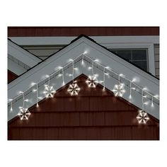 Perfect Philips Warm White LED Snowflake /Icicle String Lights   White Wire Amazing Ideas