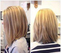 Layered Long Bob Haircuts Side, Back View