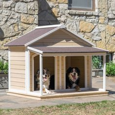 Antique Large Dog House W Roof Solid Wood Penthouse Kennels Crates Duplex W Balcony & Ez Entrance for Two Dogs. For Outdoor Dog Bed Has a Raised Bottom and Natural Insulation. Double Dog House, Large Dog House, Wood Dog House, Outdoor Dog Bed, Outdoor Dog Houses, Outside Dog Houses, Dog Cages, Dog Rooms, Training Your Dog