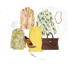Work Ready, in a luscious yellow leather skirt. Then build a wardrobe around those shoes!